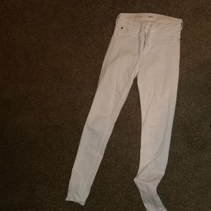 Hudson white skinny jean size 27